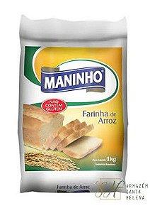 FARINHA DE ARROZ SEM GLÚTEN 1KG - MANINHO