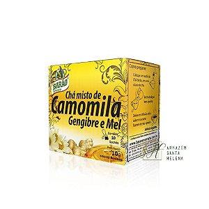 CHÁ CAMOMILA, GENGIBRE E MEL 10 SACHÊS - BARÃO