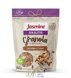 GRANOLA SEM GLÚTEN CASTANHAS E CACAU 250G - JASMINE