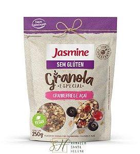 GRANOLA SEM GLÚTEN CRANBERRIES E AÇAÍ 250G - JASMINE