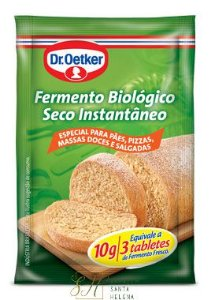 FERMENTO BIOLÓGICO SECO INSTANTÂNEO SACHÊ 10G - DR OETKER