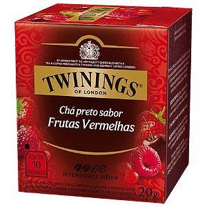 CHÁ PRETO SABOR FRUTAS VERMELHAS 10 SACHÊS 20G - TWININGS