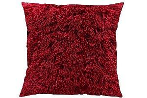 Capa para Almofada Pelo Longo - Vermelha