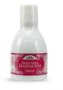 Óleo Massagem Morango com Champanhe Hot Esquenta na Pele 40ml