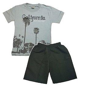 Conjunto infantil camiseta e bermuda Califórnia e51e53318e007
