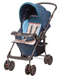 Carrinho de Bebê Passeio Hércules Topázio Náutico Azul