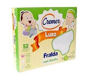 FRALDA CREMER LUXO BRANCA COM BAINHA
