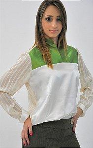 Camisa Branca e Verde