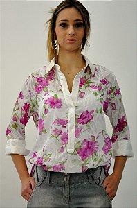 Camisa Florida Rosa