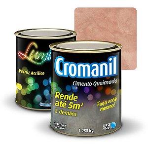 KIT 1 Cimento Queimado 1 lata 1/4   + 1 Verniz lata  900ml  - Cor TOSCANA