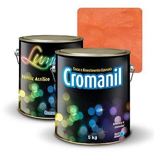 KIT Cimento Queimado Galão (5kg)  + 1 Verniz Galão 3,6 litros  - Cor ENFERRUJADO