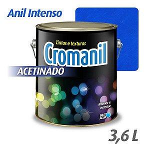 ANIL INTENSO - Cromanil Tinta Acrílica Acetinado Galão 3,6 litros