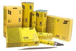 Eletrodo OK 75.77 2,50 mm caixa com 3 kg.
