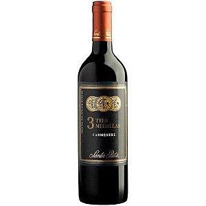 Vinho 3 Tres Medallas Carmenere - Tinto Seco - 750ml