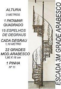 Escada caracol de ferro Fundido modelo