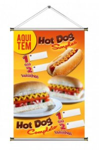 Banner de Hot Dog / Cachorro Quente - 60x90cm (mod. 2 )