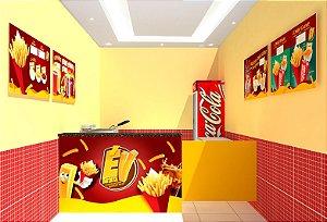 Comunicação Visual Completa para Loja de Batata Frita