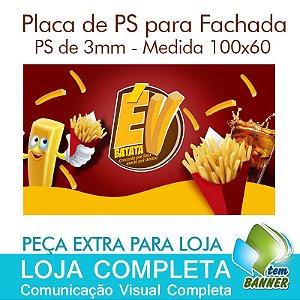 Placa para Fachada de Loja de Batata Frita - 100x60cm