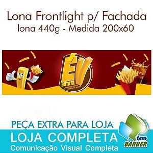 Lona para Fachada de Loja de Batata Frita - 200x60cm