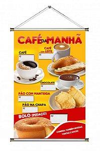 Banner de Café da Manhã - 60x90cm