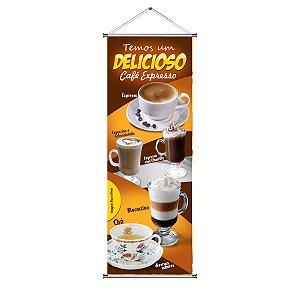 Banner de Cafe Expresso - 50x140cm