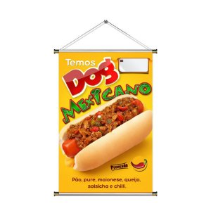 Banner para vender Hot Dog Mexicano - 60x90cm
