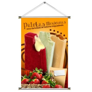 Banner para Vender Paleta Mexicana - 60x90cm