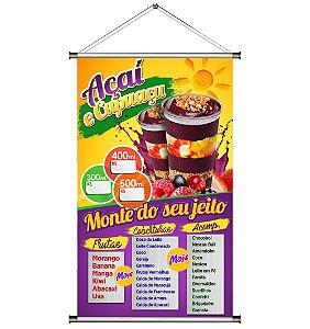 Banner de Açaí no Copo (do seu jeito) - 60x100cm