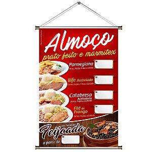 Banner para vender Almoço - Prato Feito e Marmitex - 60x90cm