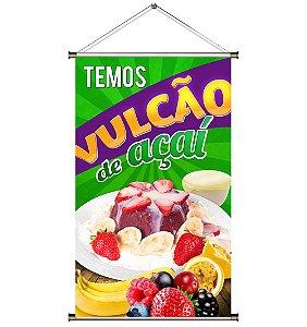 Banner para Vender Vulcão de Açaí - 60x100cm