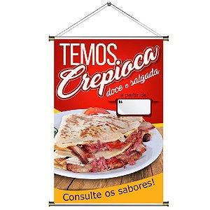 Banner para Vender Crepioca - 60x90cm