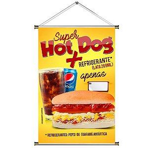 Banner para vender Combo de Hot Dog com Refri - 60x90cm