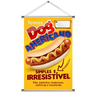 Banner de Hotdog Americano - 60x90cm