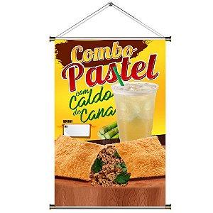 Banner de combo Pastel com Caldo de Cana - 60x90cm