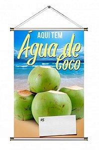 Banner de Água de Coco - 60x90cm
