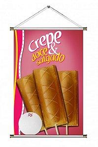 Banner de Crepe Suiço - 60x90cm