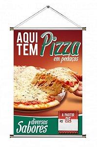 Banner de Pizza em Pedaços - 60x90cm