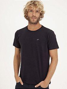 T-shirt Leaf Preto