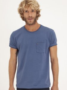 T-shirt Pocket Azul