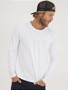 T-shirt Leaf Branco Manga Longa