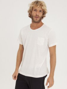 T-shirt Pocket Linho Off White