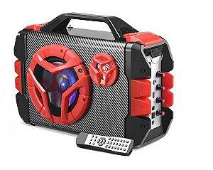 Caixa de Som Multilaser 100w Rms MP3 USB SD FM Bluetooth Microfone SP250 com Controle Remoto