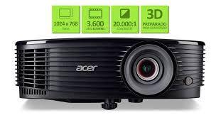 PROJETOR ACER X1223- 3600 LUMENS -XGA (1024X768)-HDMI-PRETO-3D READY