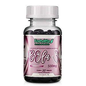 Bela 3 Polivitamínico para cabelos, pele e unhas - 30 cápsulas Fortvitta