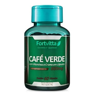 Café Verde - Termogênico Natural - 60 cápsulas Fortvitta