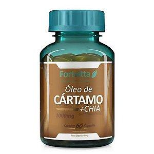 Óleo de Cártamo + Chia com Vitamina E - com 60 cápsulas - Fortvitta