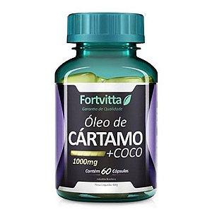 Óleo de Cártamo + Óleo de Coco - com 60 cápsulas - Fortvitta