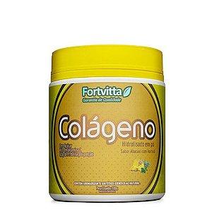 Colágeno Hidrolisado - Sabor Abacaxi com Hortelã - 300 gramas Fortvitta