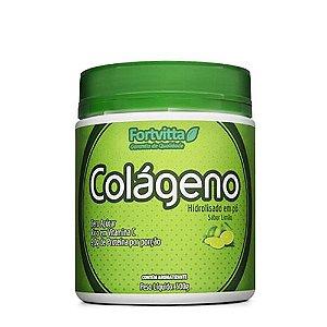 Colágeno Hidrolisado - Sabor Limão - 300 gramas Fortvitta