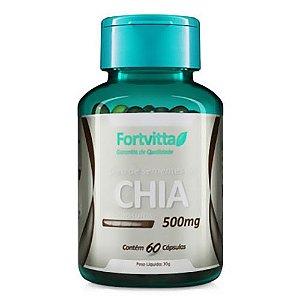 Óleo de Chia - Emagrecimento com Saúde - 60 cápsulas - Fortvitta